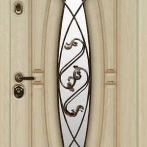 Дверь со стеклом и ковкой DR235
